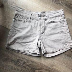 Levi's tan jean shorts